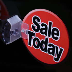 suction cup with self-pierce flag clip