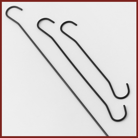 wire hooks black